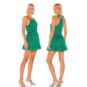 NWT Lovers + Friends Banks Kelly Green Dress.